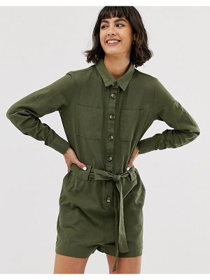 Only utility romper-green