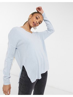 Only v neck sweater in blue-blues