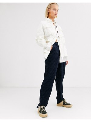 Only wide leg cord pants in navy