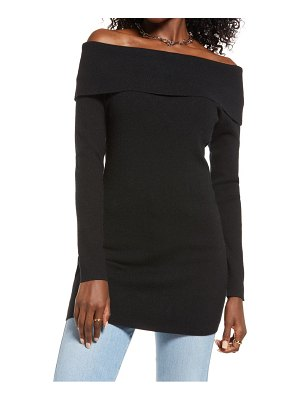 Open Edit off the shoulder high-low tunic top