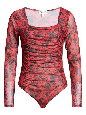 Open Edit ruched printed bodysuit