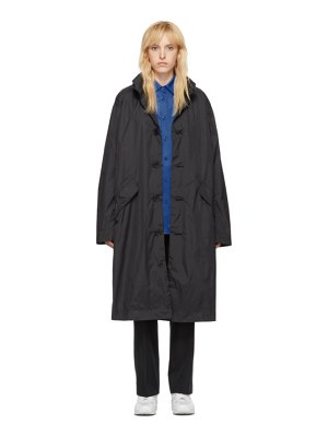 Opening Ceremony black nylon logo coat