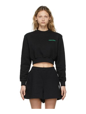 Opening Ceremony black word torch cropped sweatshirt