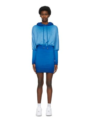 Opening Ceremony blue rose crest hoodie dress