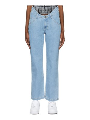 Opening Ceremony blue warped straight jeans