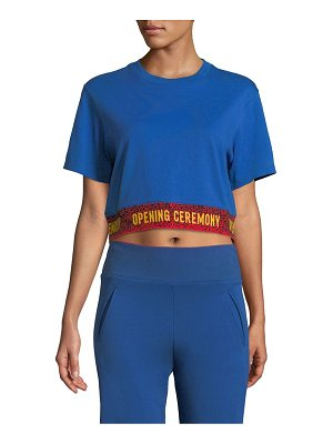 Opening Ceremony cropped logo tee