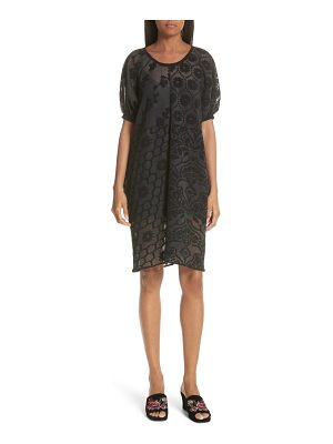 Opening Ceremony floral patchwork jacquard dress
