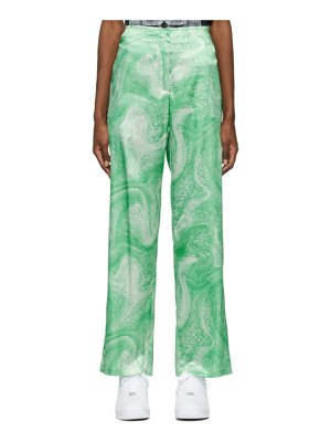Opening Ceremony green allover marble trousers
