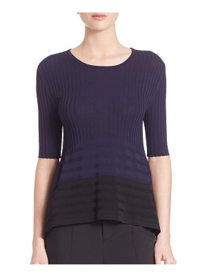 Opening Ceremony Linear Delta Colorblock Top