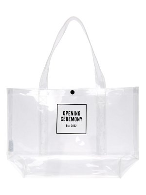 Opening Ceremony medium box logo tote