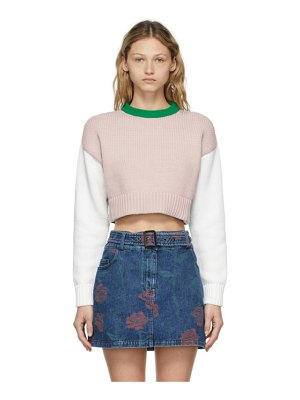 Opening Ceremony multicolor combo warped logo sweater