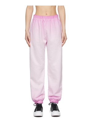 Opening Ceremony pink fade rose crest lounge pants