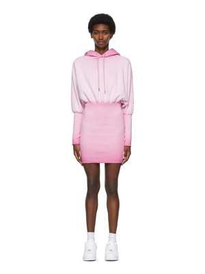 Opening Ceremony pink rose crest hoodie dress