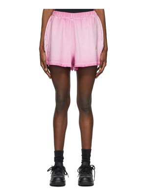 Opening Ceremony pink rose crest sweat shorts
