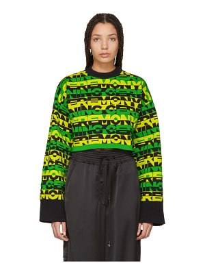 Opening Ceremony Racer Logo Cropped Sweater
