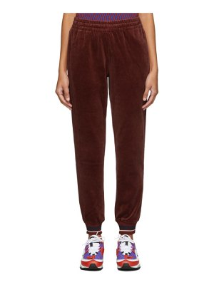 Opening Ceremony red velour lounge pants