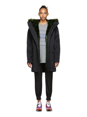 Opening Ceremony reversible black fur-lined coat