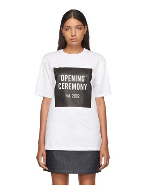 Opening Ceremony white unisex box logo t-shirt
