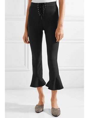 Opening Ceremony william cropped lace-up stretch-cady bootcut pants