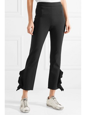 Opening Ceremony william cropped ruffle-trimmed stretch-cady skinny pants