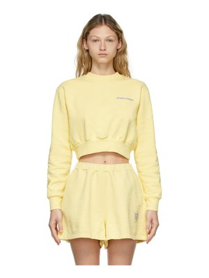 Opening Ceremony yellow word torch cropped sweatshirt