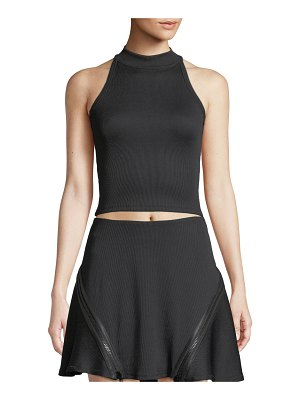 Opening Ceremony Zip-Back Fitted Ribbed Tank