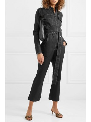 Orseund Iris workwear belted cotton-gabardine jumpsuit