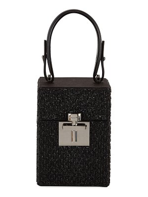 Oscar de la Renta Alibi Box Beaded Top-Handle Bag