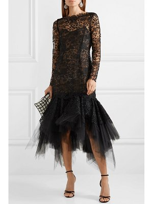 Oscar de la Renta guipure lace and tulle dress