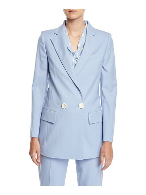 Oscar de la Renta Double-Breasted Stretch-Wool Jacket