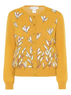 Oscar de la Renta embroidered wool cardigan