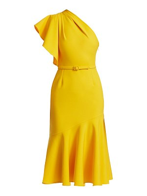 Oscar de la Renta one-shoulder flounce dress