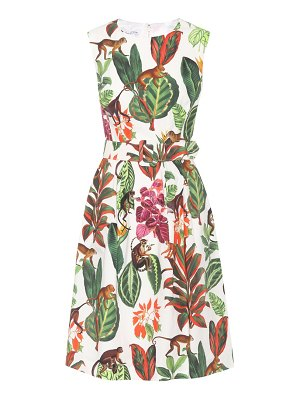 Oscar de la Renta Printed silk and cotton dress
