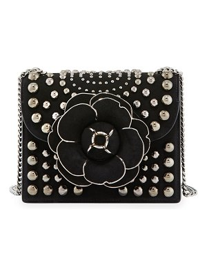 Oscar de la Renta Tro Mini Studded Crossbody Bag
