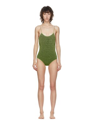 Oseree lurex lumiere one-piece swimsuit