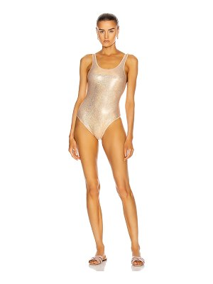 Oseree metallic sporty maillot