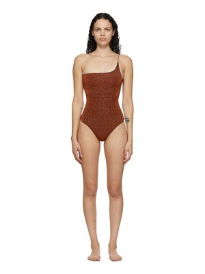 Oseree one-shoulder lumiere one-piece swimsuit