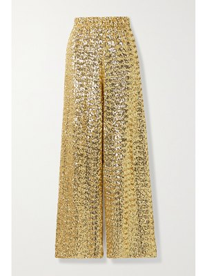 Oséree sequined tulle wide-leg pants