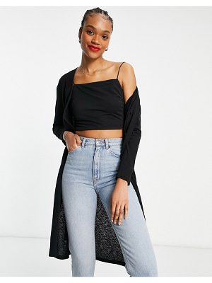 Other Stories &  3 piece belted midi cardigan in black