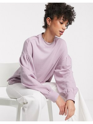 Other Stories &  balloon sleeve drop shoulder top in lilac-purple