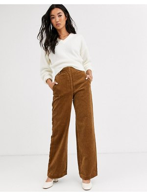 Other Stories &  cord flared pants in camel-brown