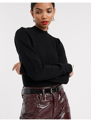 Other Stories &  high neck crop sweater in black