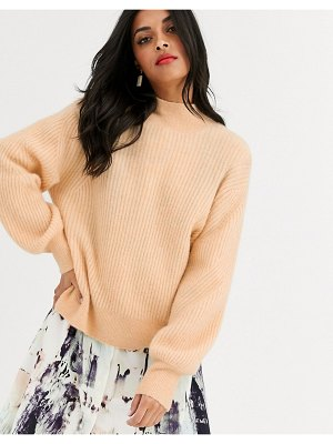 Other Stories &  high neck sweater in beige