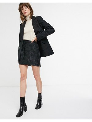Other Stories &  jacquard pelmet mini skirt in black