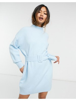 Other Stories &  knit belted mini dress in blue-blues