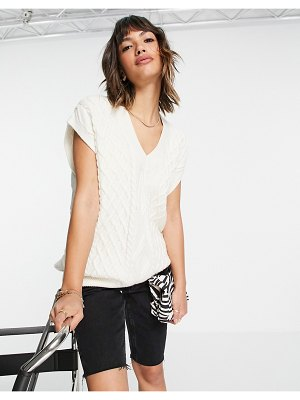 Other Stories &  knitted vest in off white