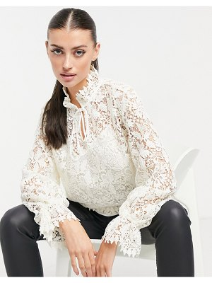 Other Stories &  lace blouse in white