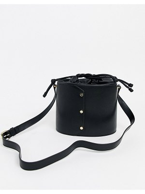 Other Stories &  leather bucket bag in black