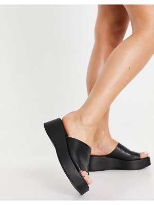 Other Stories &  leather flatforms in black