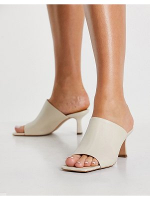 Other Stories &  leather heeled mules in beige-neutral